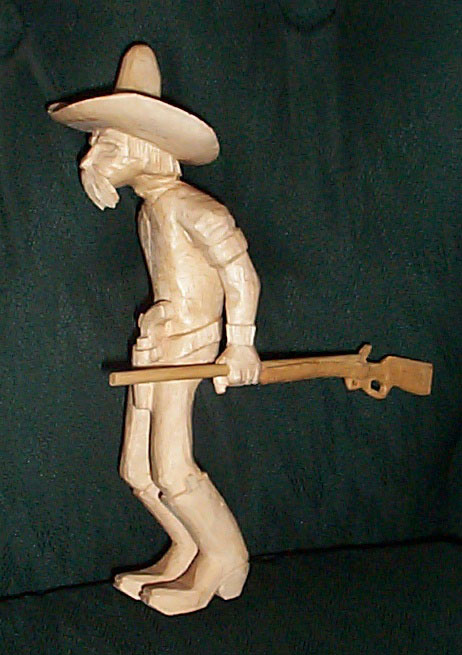 Cowboy withGun woodcarving