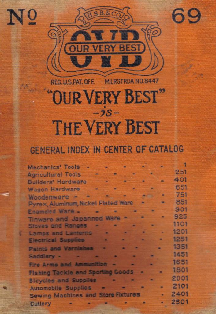 1922 Hibbard, Spencer, Bartlett & Co.  69 Catalog