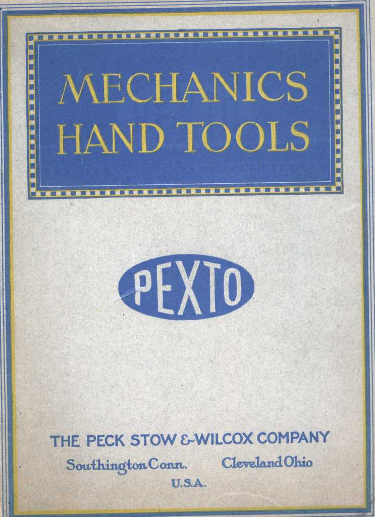 1923 Pexto no. 20 Tool Catalog cover