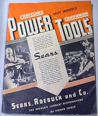 Sears Craftsman 1937 tool catalog