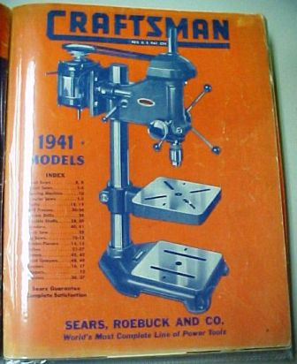 Sears Craftsman 1941 tool catalog