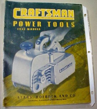 Sears Craftsman 1942 tool catalog