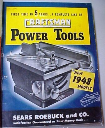 Sears Craftsman 1948 tool catalog