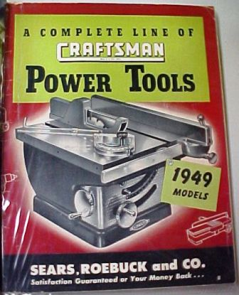 Sears Craftsman 1949 tool catalog