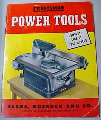 Sears Craftsman 1950 tool catalog