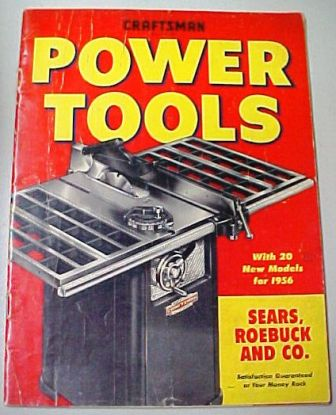 Sears Craftsman 1956 tool catalog