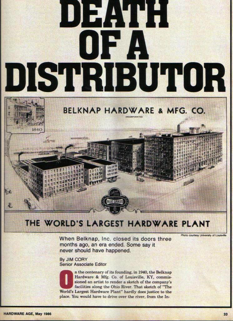 Belknap Hardware Age article page 33
