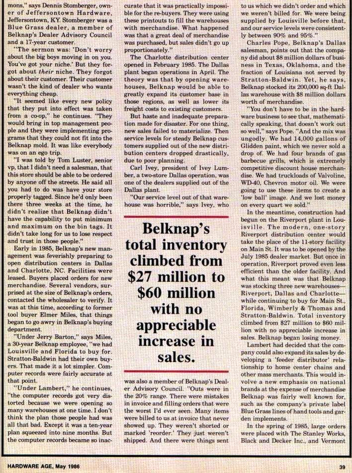 Belknap Hardware Age article page 39